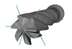 エンドミル複数刃測定可能