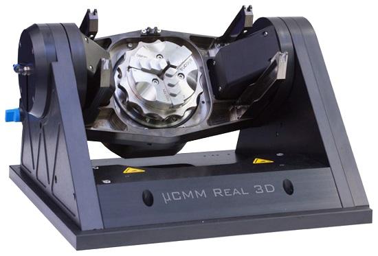 非接触三次元測定機用回転ユニットµCMMReal3D