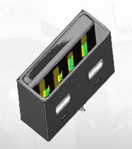 USBドライブの接触面とCADデータとの比較